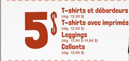 5 $ T-shirts et débardeurs | T-shirts avec imprimés | Leggings | Collants