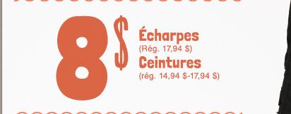 8 $ Écharpes | Ceintures