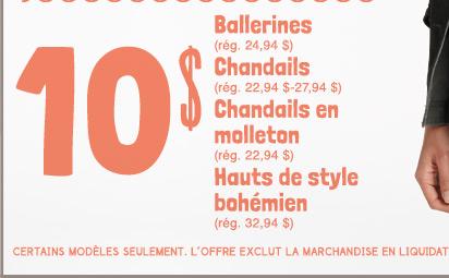 110 $ Ballerines | Chandails | Chandails en molleton | Hauts de style bohémien