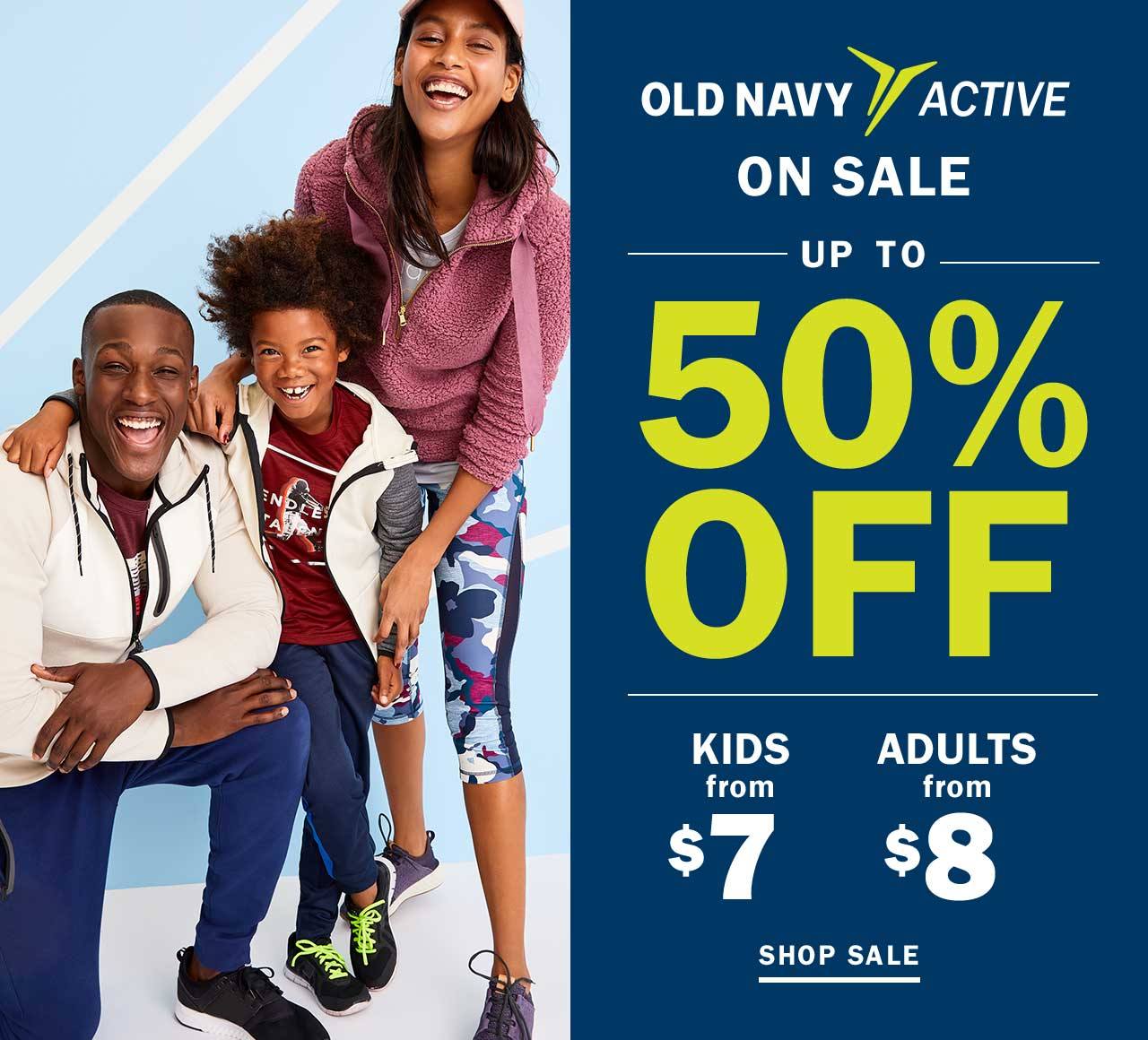 OLD NAVY ACTIVE ON SALE UP TO 50% OFF