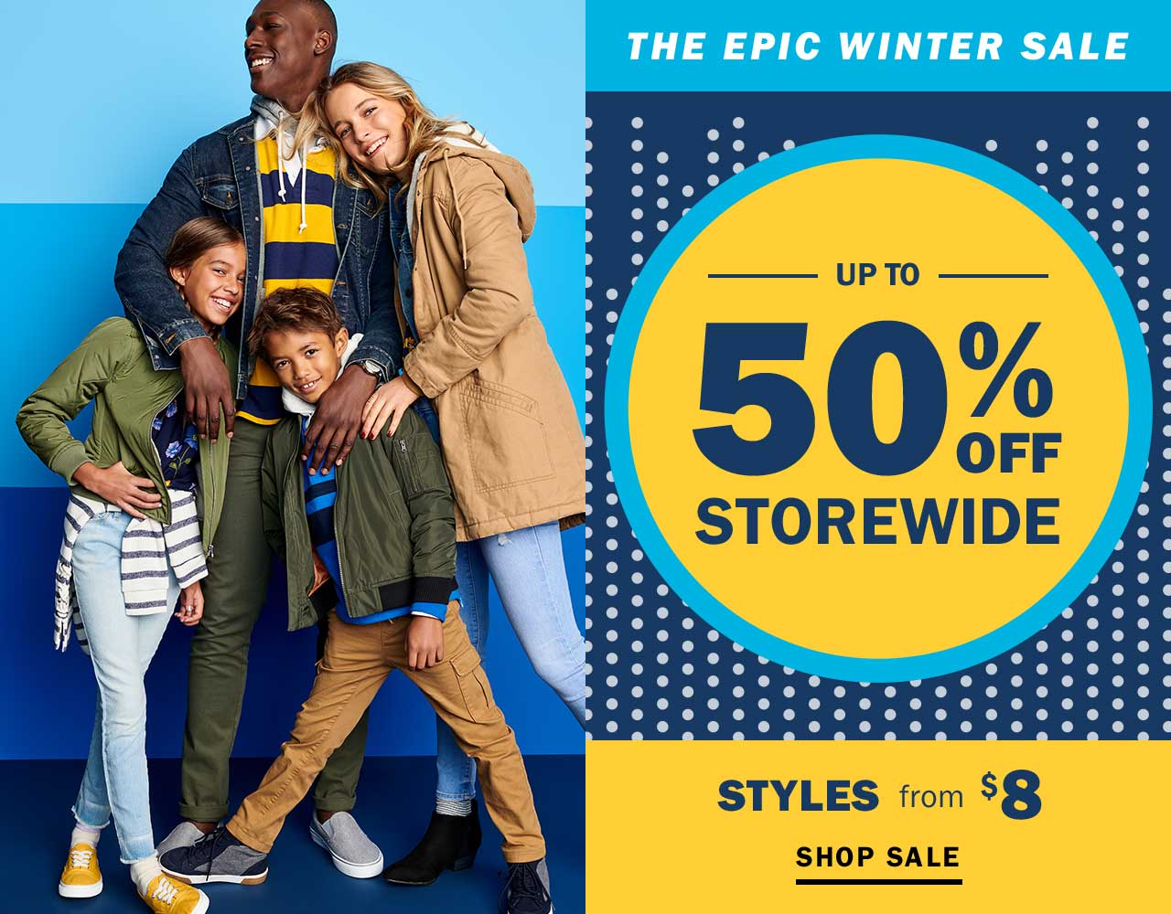 THE EPIC WINTER SALE | UP TO 50% OFF STOREWIDE