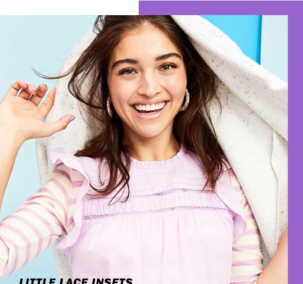Little lace insets