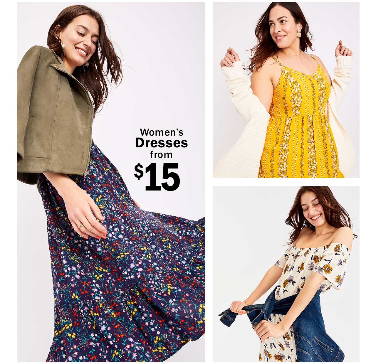 Women's Dresses from $15