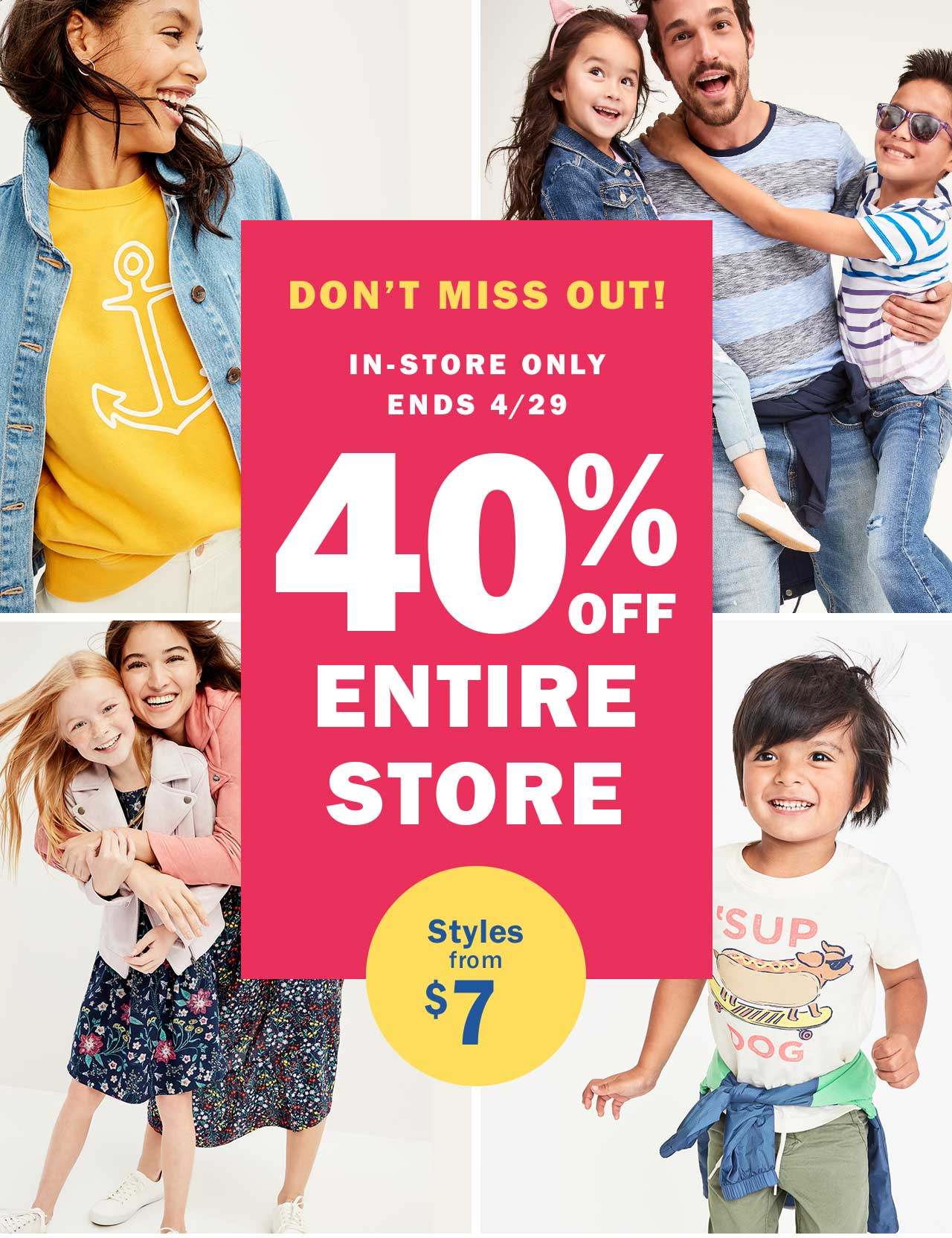40% OFF ENTIRE STORE