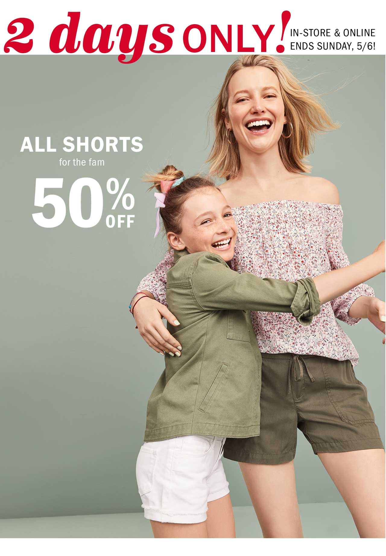 2 days ONLY! | ALL SHORTS for the fam 50% OFF