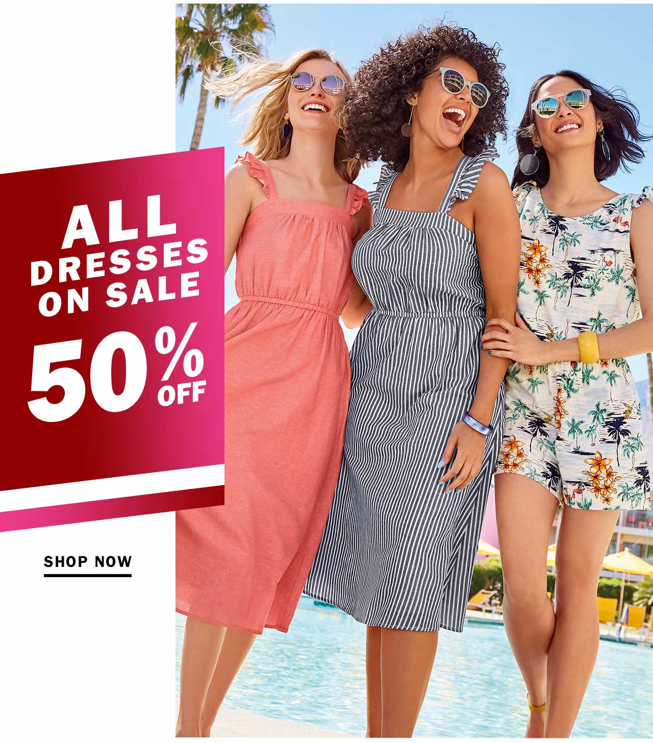 ALL DRESSES ON SALE 50% OFF | SHOP NOW