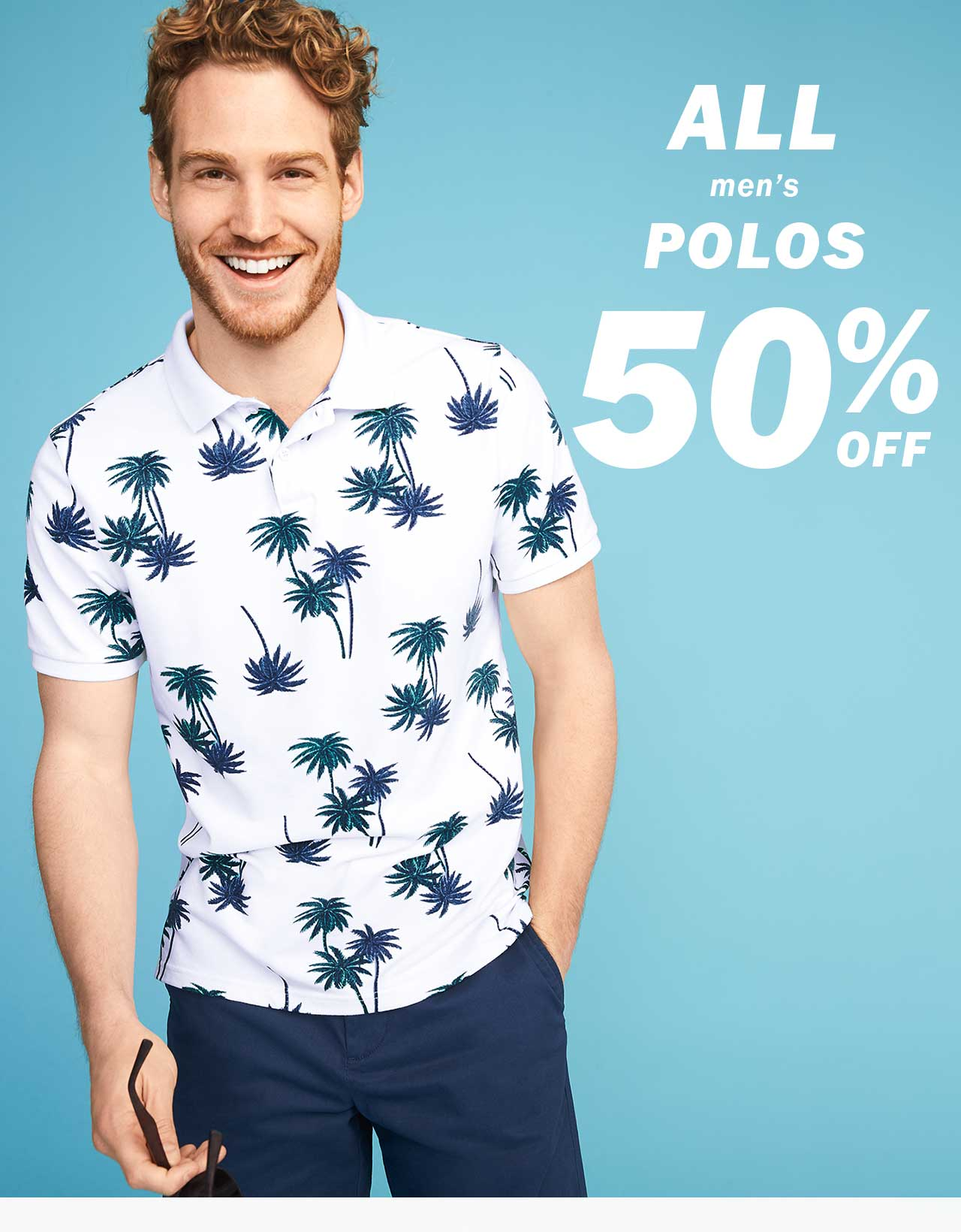 ALL men's POLOS 50% OFF