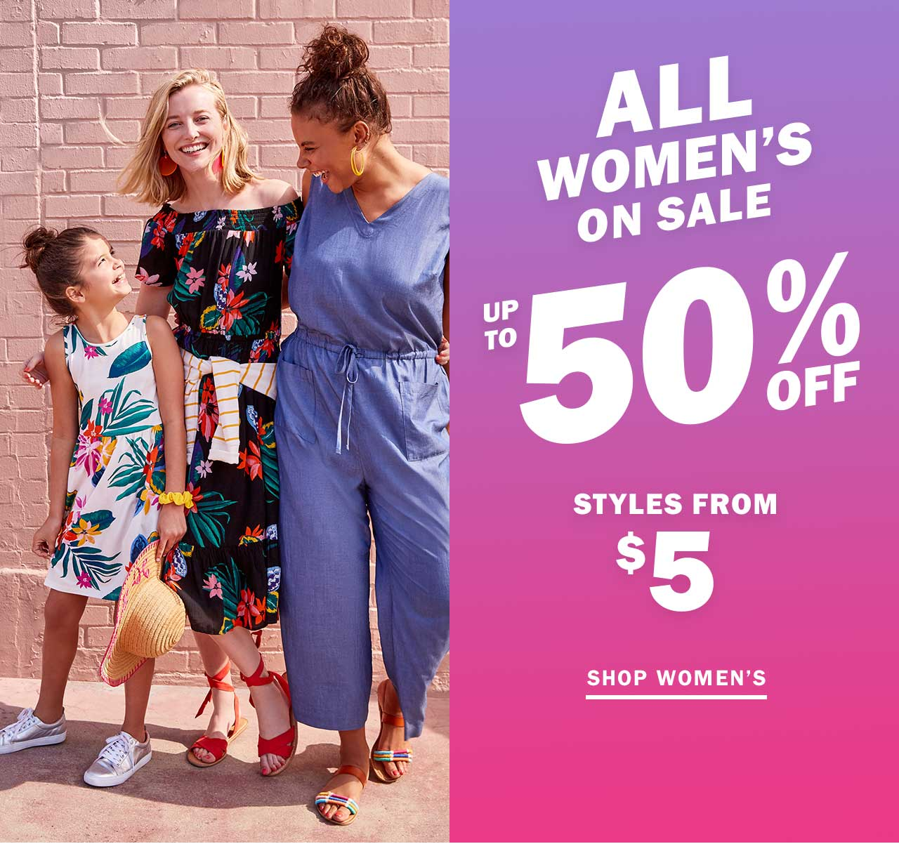 ALL WOMEN'S ON SALE UP TO 50% OFF