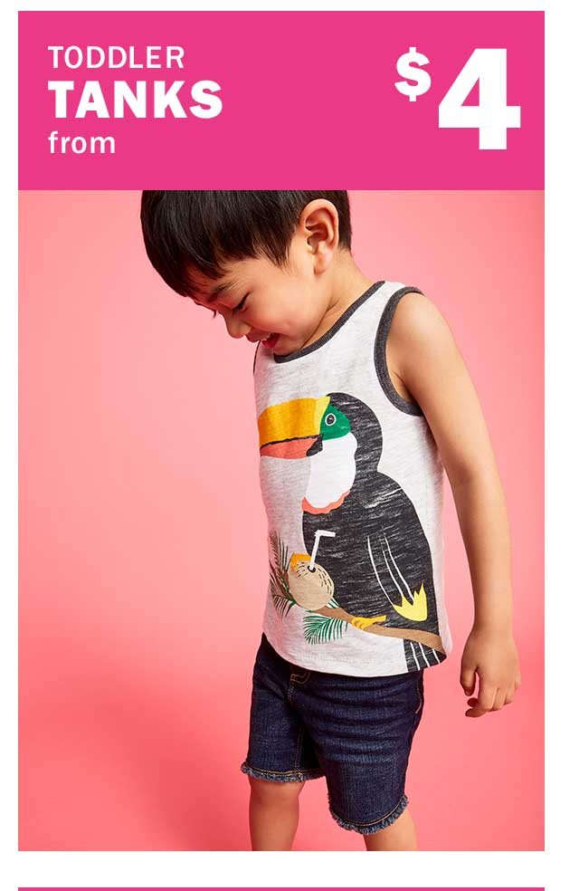 TODDLER TANKS from $4
