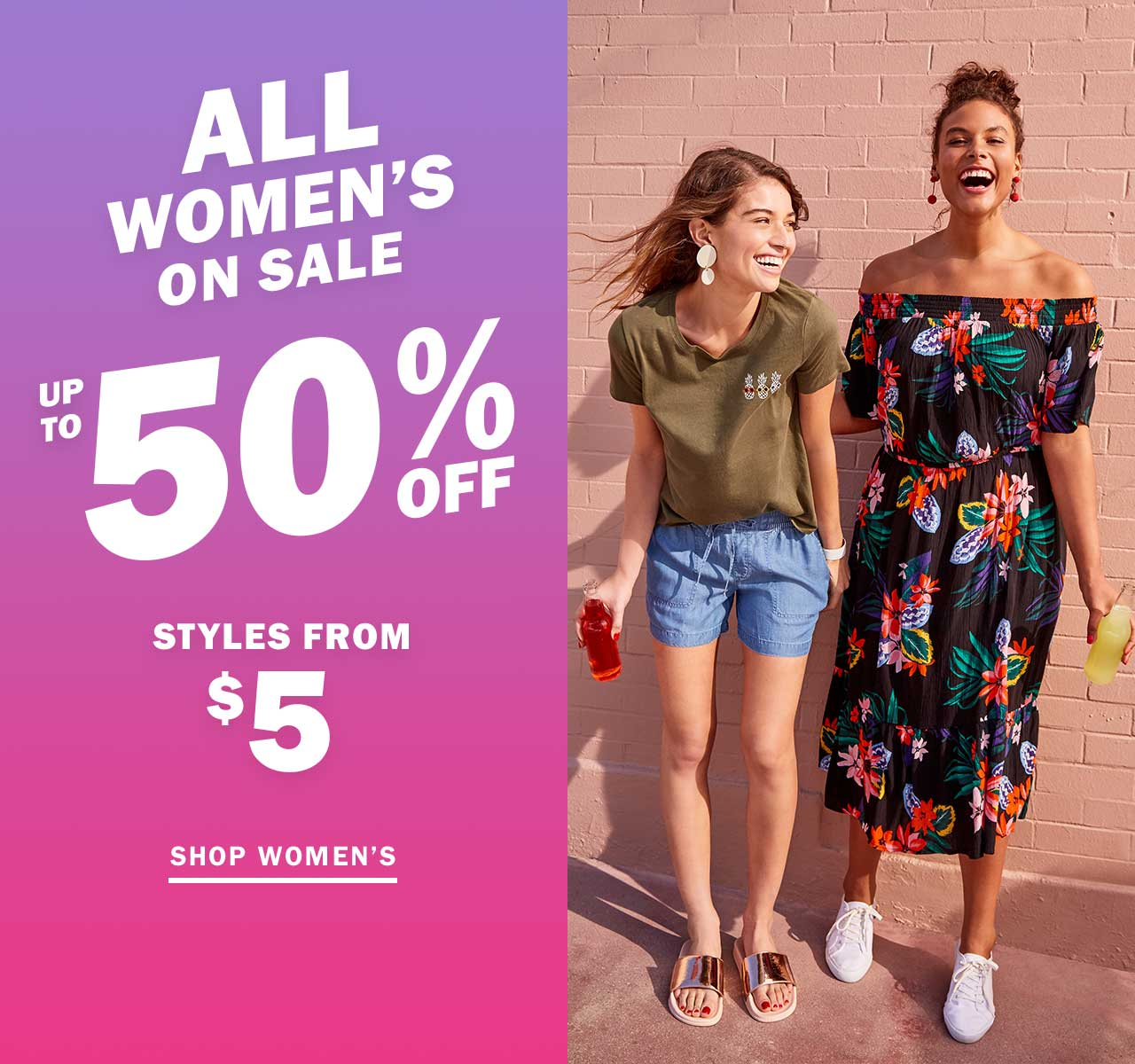 ALL WOMEN'S ON SALE | UP TO 50% OFF | SHOP WOMEN'S