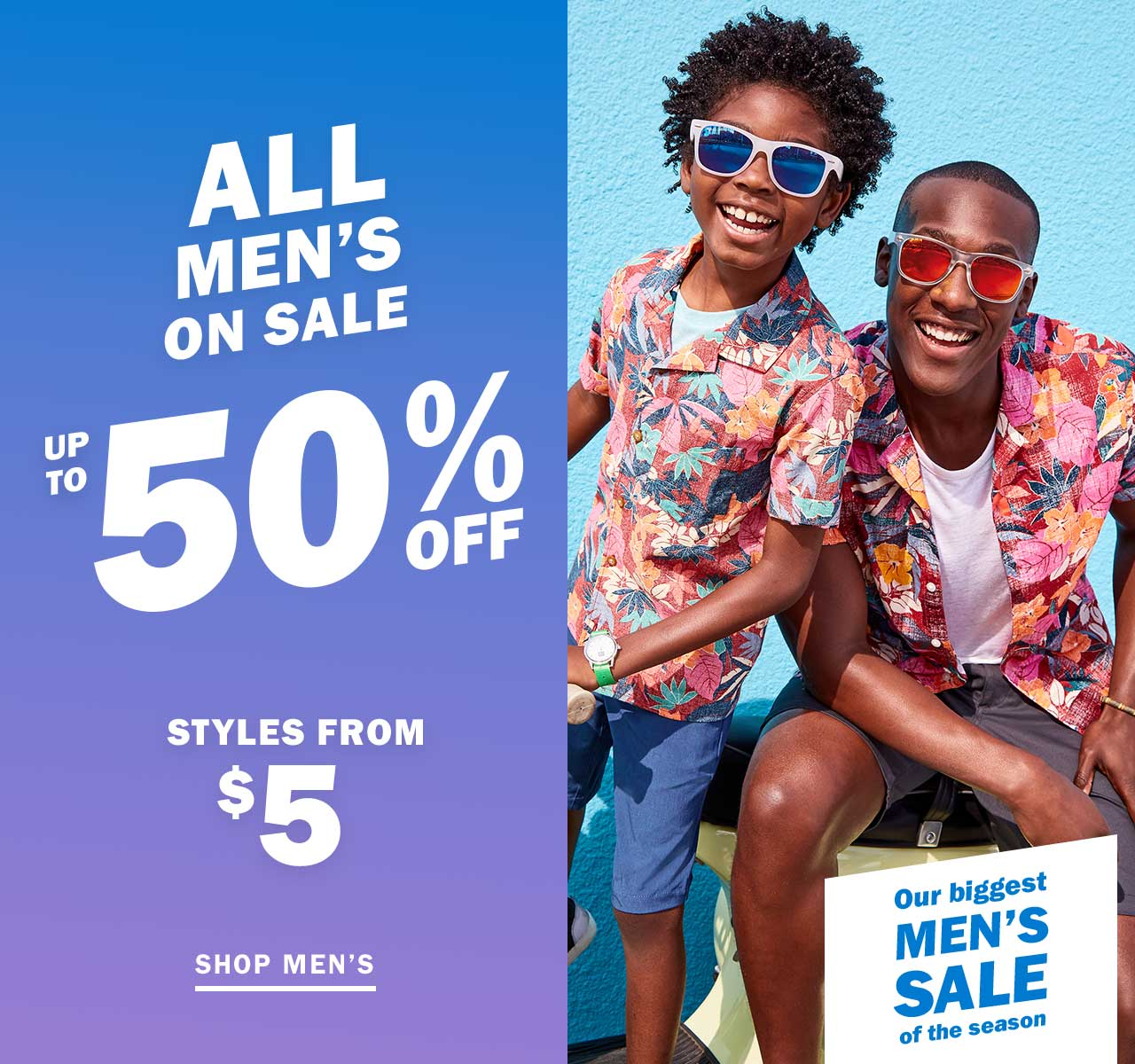 ALL MEN'S ON SALE | UP TO 50% OFF | SHOP MEN'S