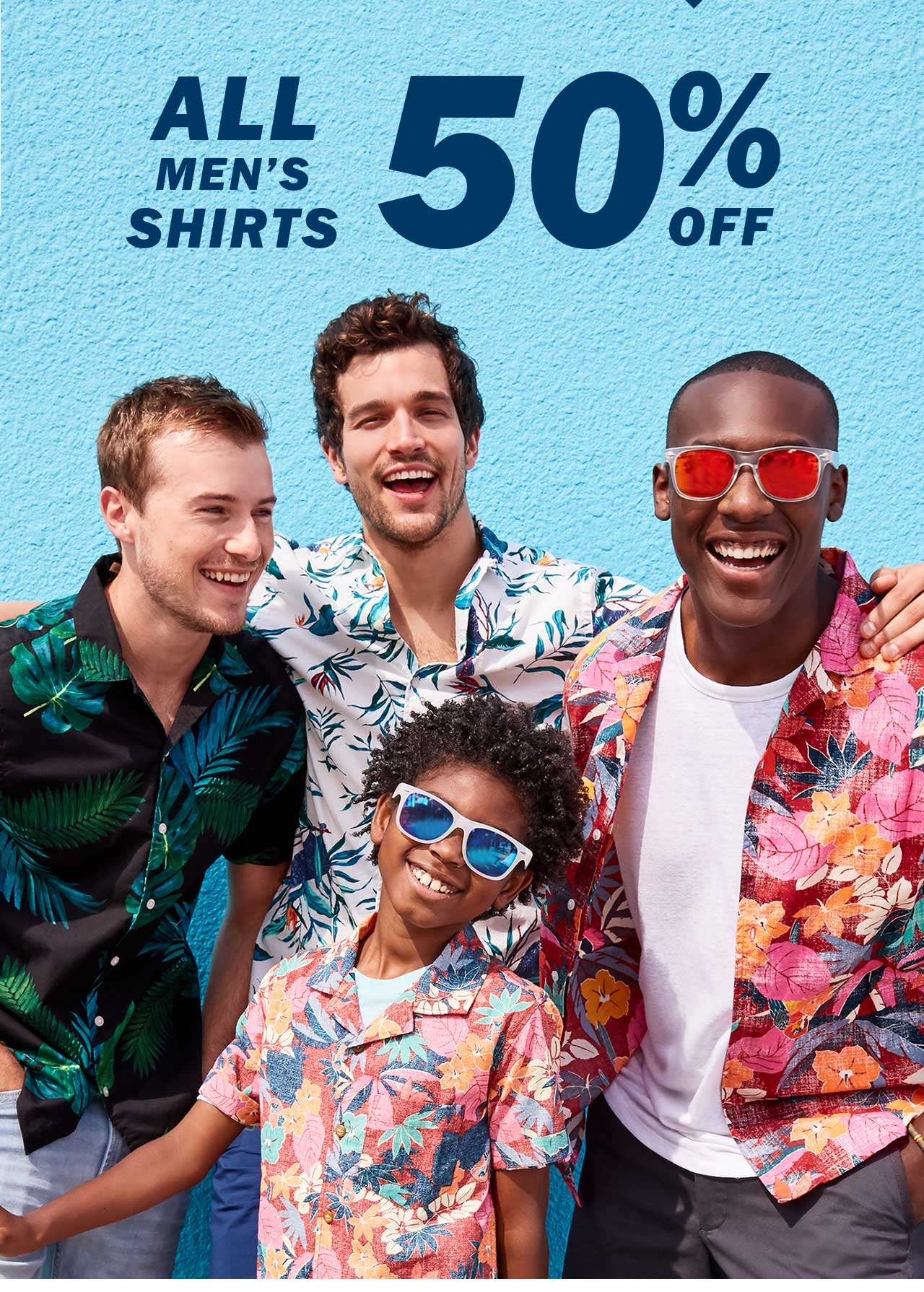 ALL MEN'S SHIRTS 50% OFF