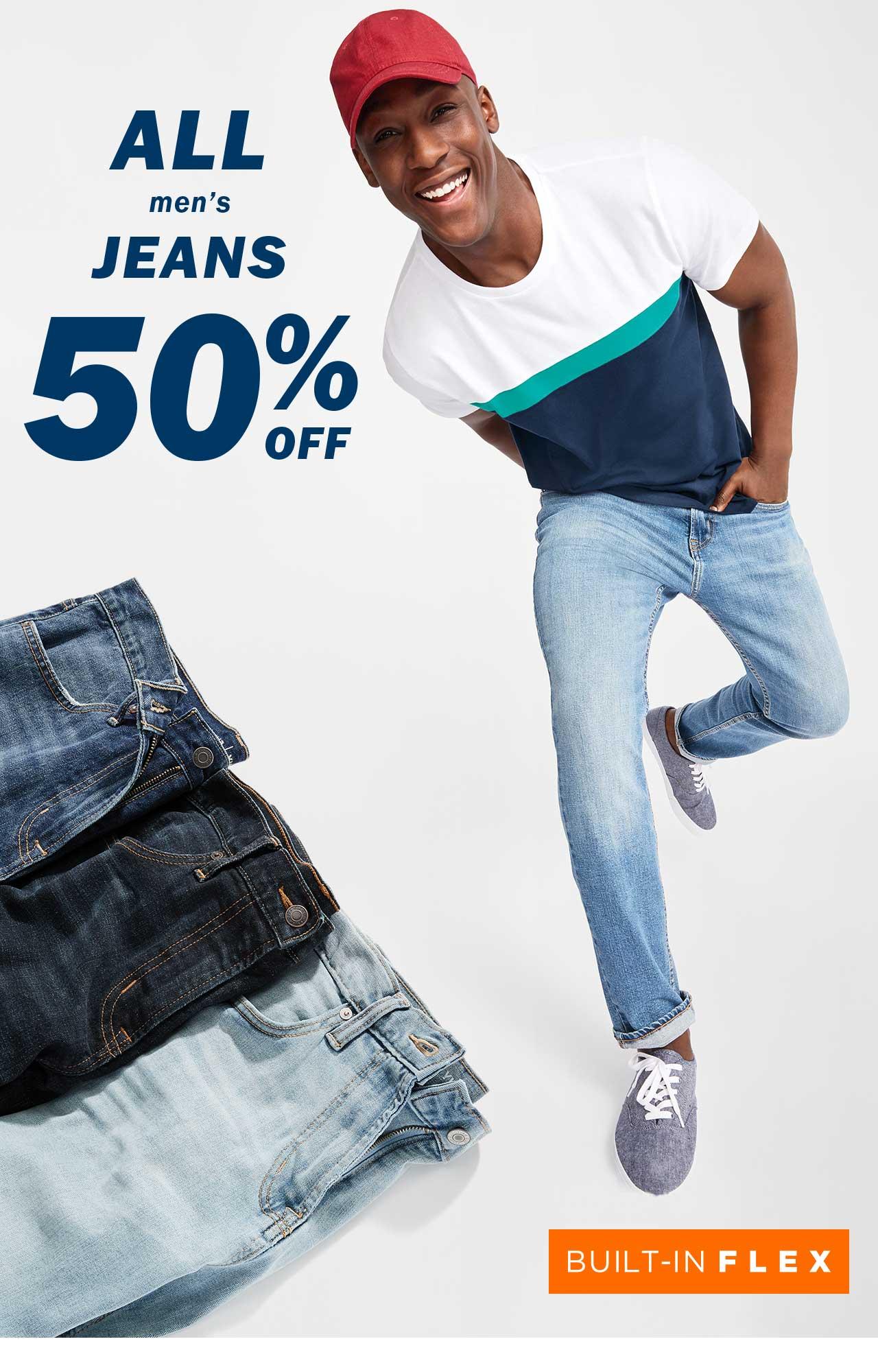 ALL men's JEANS 50% OFF