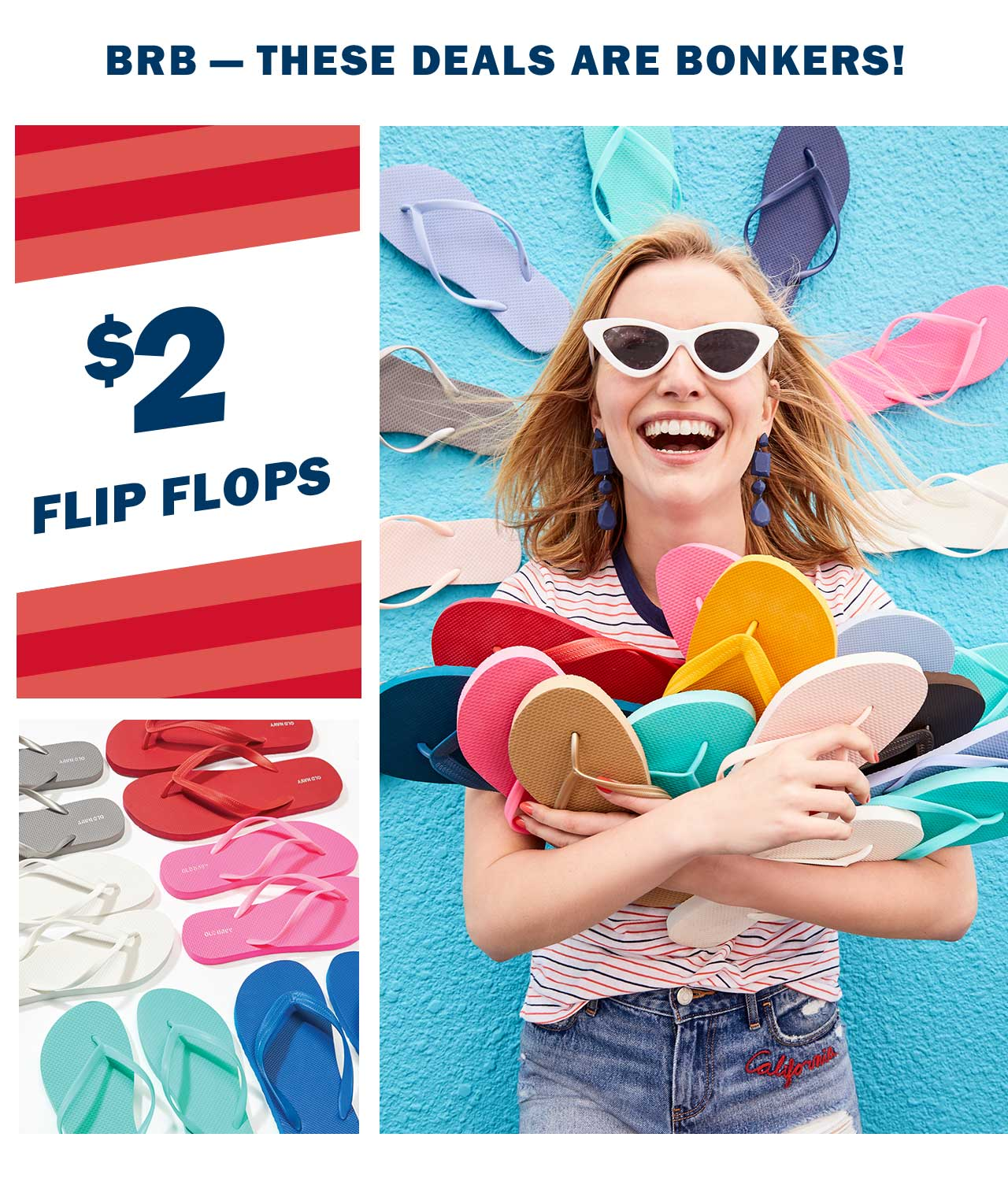 BRB — THESE DEALS ARE BONKERS! | $2 FLIP FLOPS