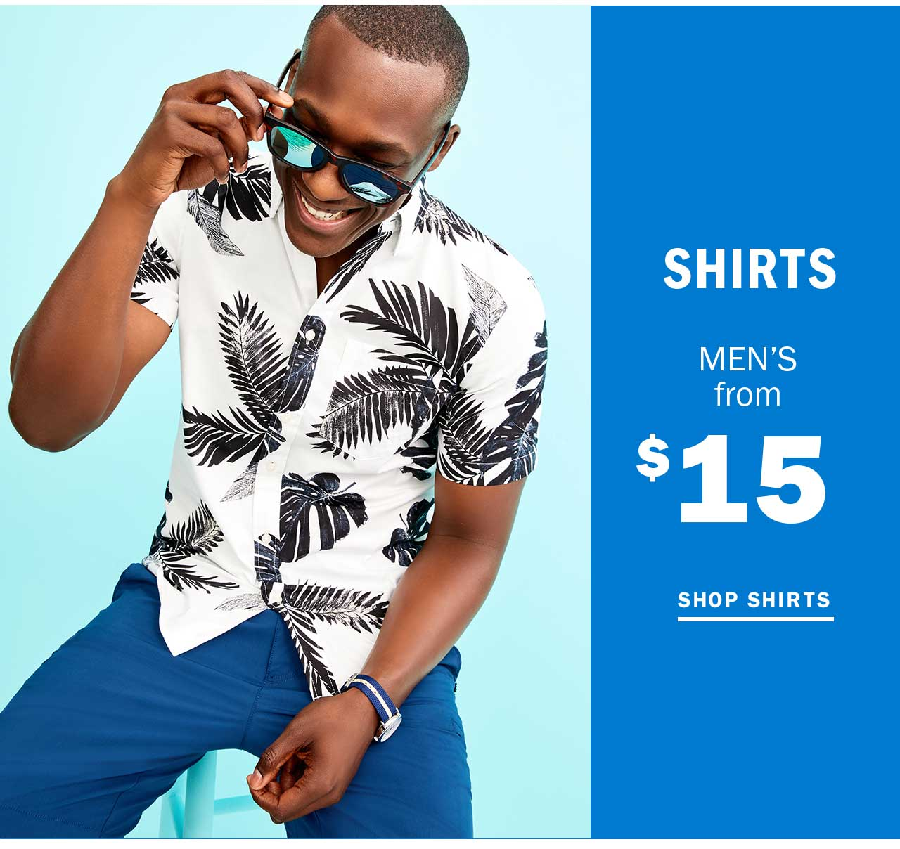 SHIRTS MEN'S from $15 | SHOP SHIRTS