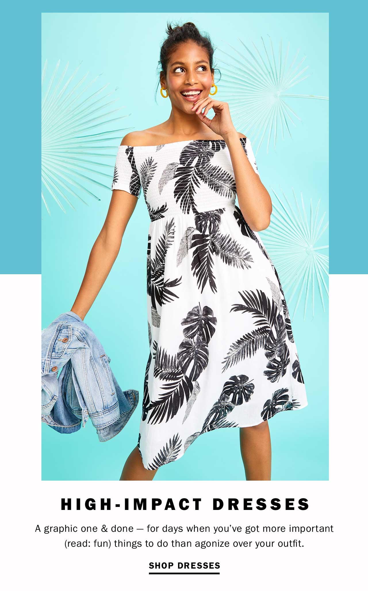HIGH-IMPACT DRESSES | SHOP DRESSES