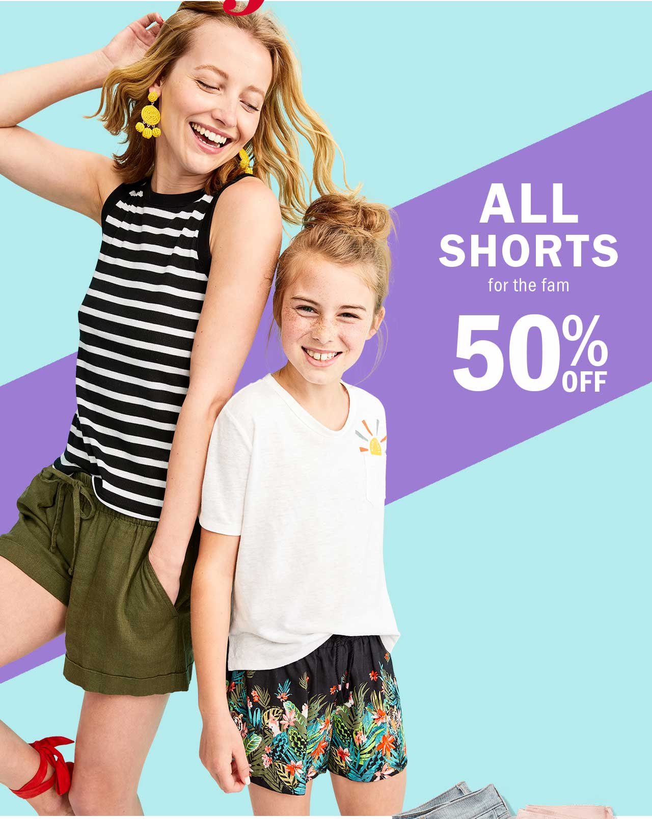 ALL SHORTS for the fam 50% OFF