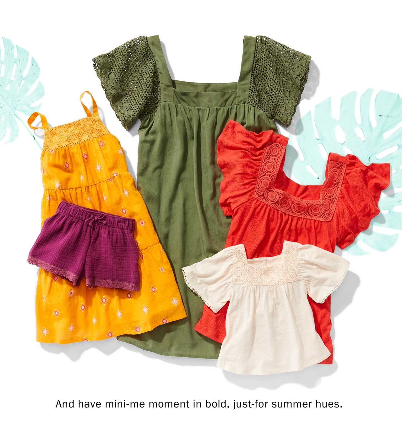 And have mini-me moment in bold, just-for summer hues.