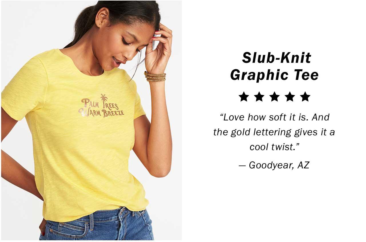 Slub-Knit Graphic Tee