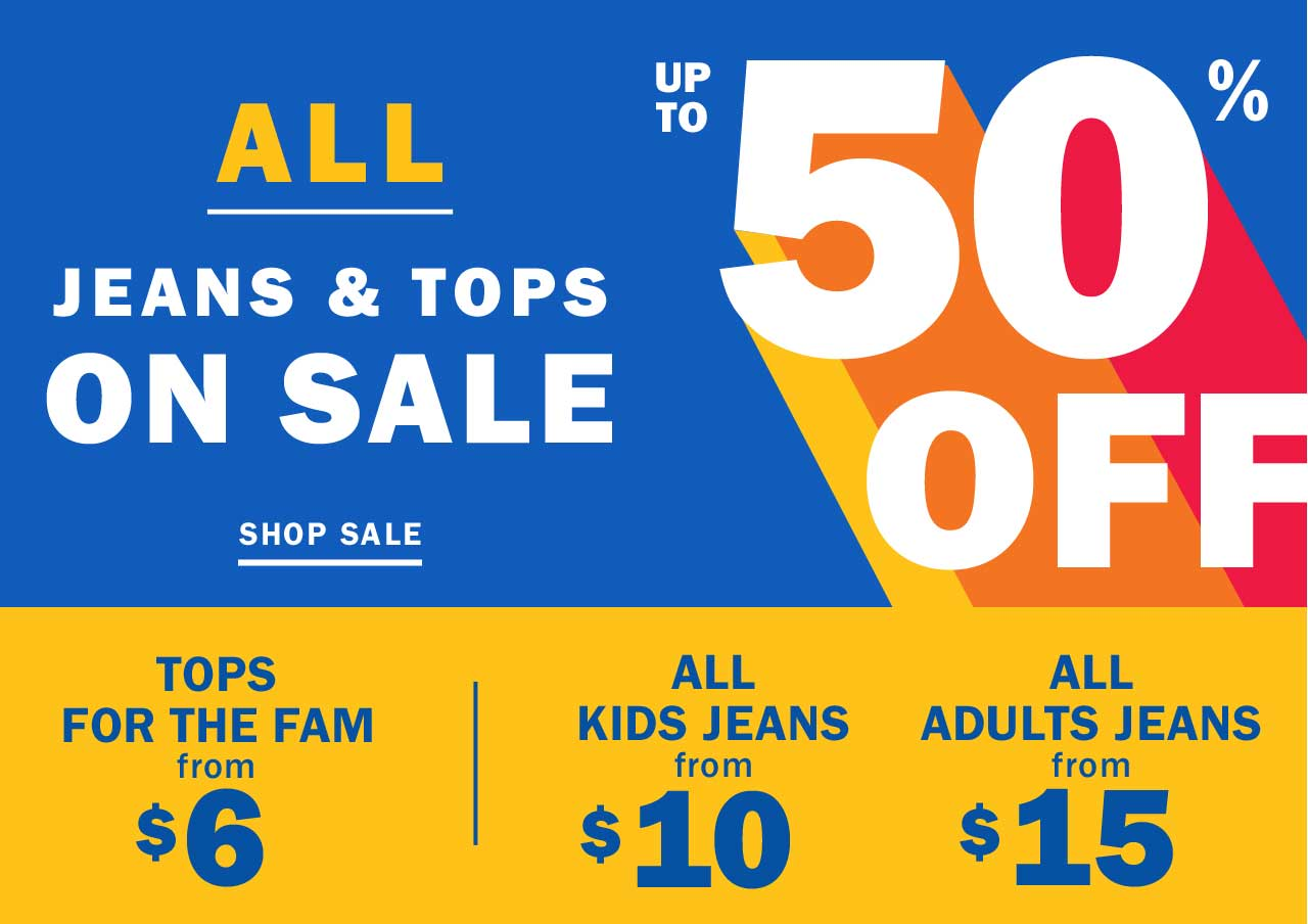 ALL JEANS & TOPS ON SALE | UP TO 50% OFF | SHOP SALE