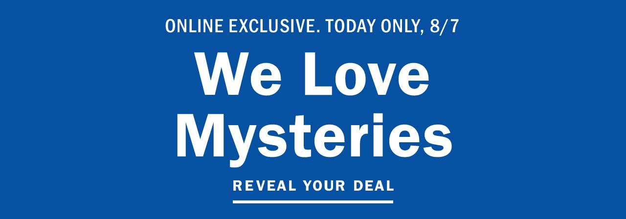We Love Mysteries | REVEAL YOUR DEAL