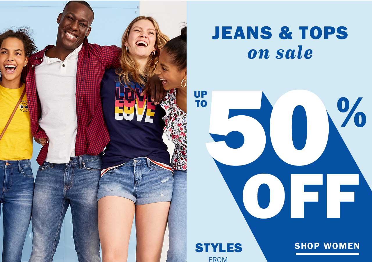 JEANS & TOPS on sale UP TO 50% OFF | SHOP WOMEN