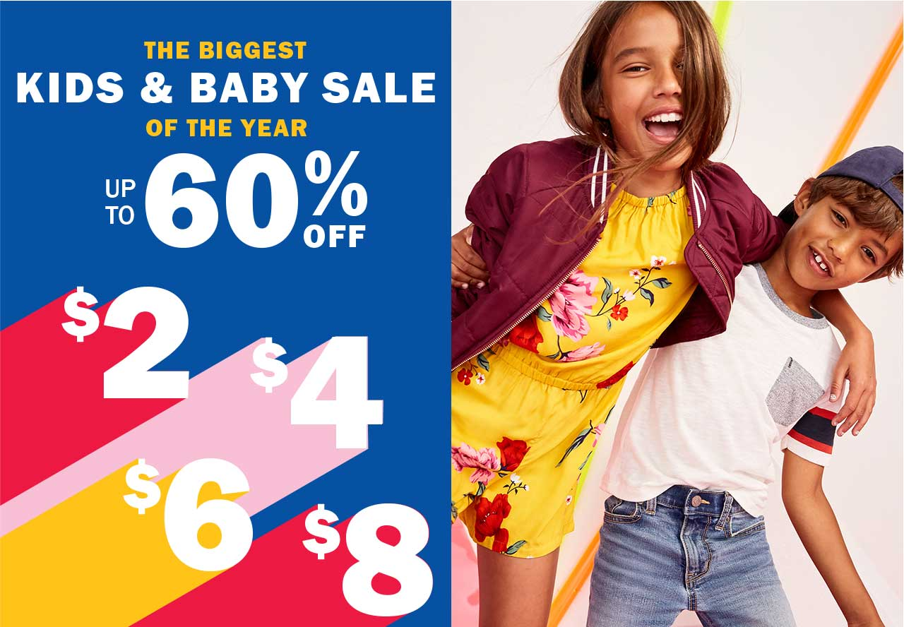THE BIGGEST KIDS & BABY SALE OF THE YEAR UP TO 60% OFF