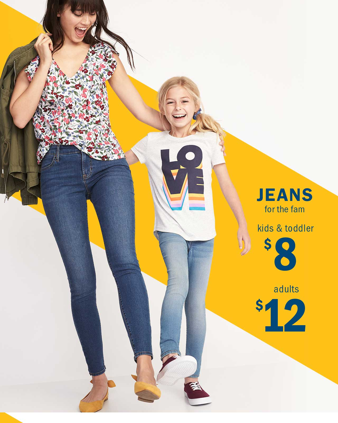 JEANS for the fam | kids & toddler $8 | adults $12